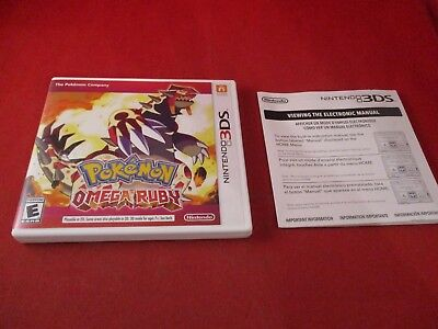 Pokemon Omega Ruby Nintendo 3DS Empty Case ONLY (no manual or game)