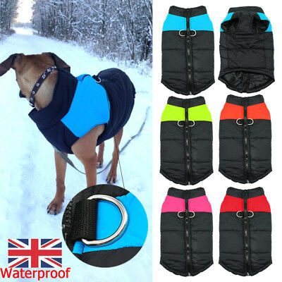 Small Dog Puppy Pet Warm Insulated Padded Coat Winter Puffer Jacket Clothes UK