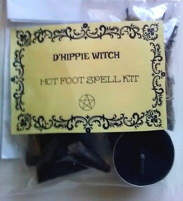 Wicca *HOT FOOT SPELL KIT* Witch Spell Kit Rituals Magic Pagan Ritual