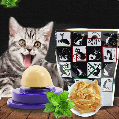1pcs Cat Snack Catnip Sugar Candy Licking Solid Nutrition Energy Ball Toys