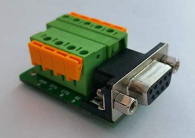 DB9 DSUB 9-pin Female Adapter RS-232 Breakout Board Connector (D14)