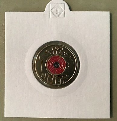 Remembrance Day Poppy 2018 $2 Coin. UNC  In Lighthouse 2x2 Holder From RAM Roll