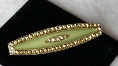 Vintage jewellery Pierre Bex style signed France art deco style green brooch
