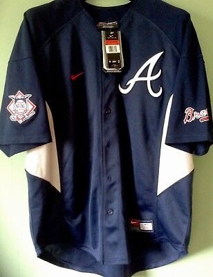 Atlanta Braves Baseball Jersey L 25 A Jones  new original still with NIKE tag