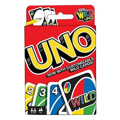 UNO Toy Game From Mattel Classic Card Game Family Fun With Wild Card NEW BOXED