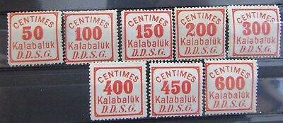 Romania - Scarce 1880 Additional Fee Stamps - Mint - With Authentication Marks