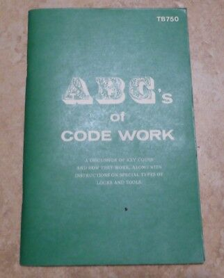 Abc's Of Code Work Tb750  1977 Booklet Exc