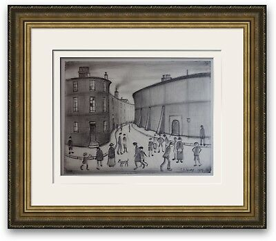 ORIGINAL Vintage Drawing Northern Impressionist Signed and dated L S Lowry 1959