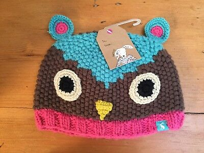 Joules Knitted Crochet Owl Hat NEW 1-2 Years 12-24 Months Large Christmas Presen