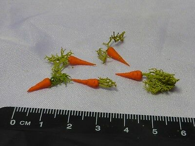 1:12 Scale 5 x Carrot type d   Doll house Miniatures Vegetable,Garden,Kitchen