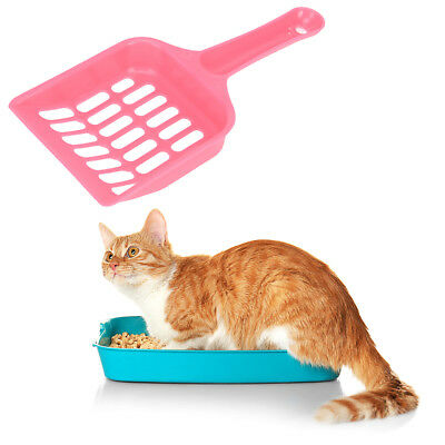 Cats Dog Plastic Litter Tray Scoop Spoon Random Colors Waste Poop Shovel UUM