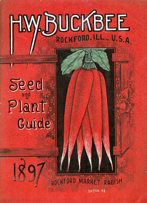 Seed Catalogue Cover H.W.Buckbee 1897  Vintage Advertising Art  Print / Poster