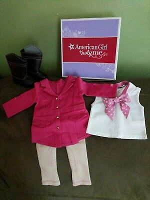 NEW in box American Girl Truly Me Pretty Pink Riding Outfit ~Limited Edition~