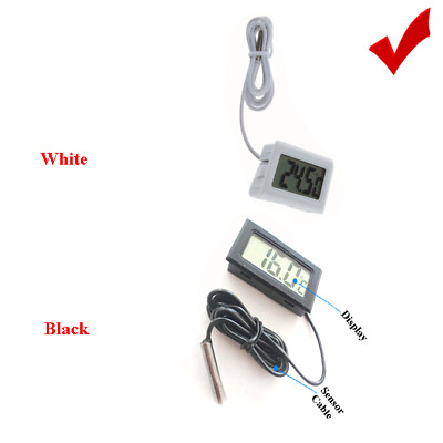 LCD Digital Fish Tank Water Thermometer Temperature +1m - 5m Submerge probe Wire