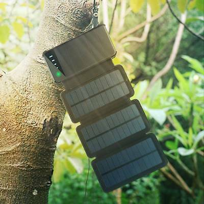 New Solar charger 10000mAh Portable Power Bank Battery Dual USB with Solar Panel