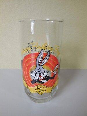 Bugs Bunny Happy Birthday 50th collectible glass 1990 Warner Brothers