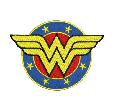 Wonder Woman Logo Patch Embroidered Iron/Sew on Badge WW Costume Diana Prince