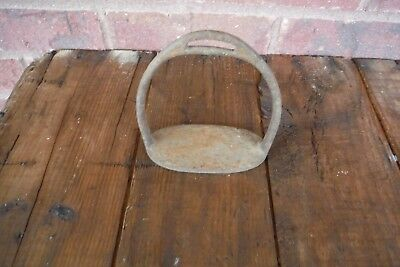 1 Antique/Vintage Cast Iron Stirrup Small, Child Ladies Horse  3 3/4' Width Foot