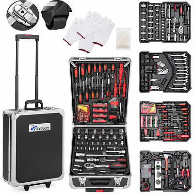 TRESKO® 735Pcs Tool Set Case Mechanics Kit Box Organize Castors Toolbox Trolley