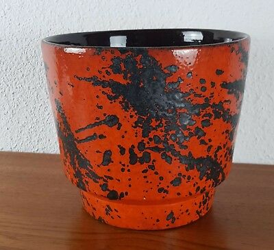 Keramik Blumentopf plant pot Fat Lava Ceramics Pottery  WGP West Germany
