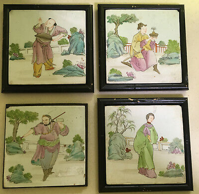 Set of Chinese Porcelain Tile / Plaque Paintings, 20th Century