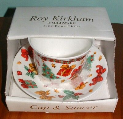 Roy Kirkham Christmas Season Boxed Cup & Saucer