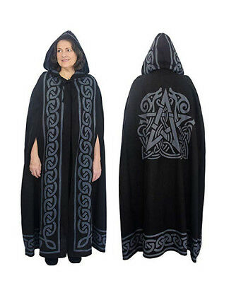Cotton Cloak - Pentacle - Grey | Witchcraft | Pagan | LARP | Roleplaying
