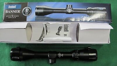 Bushnell 613948 Banner Riflescope, 3-9X 40 Matte Black Multi-X Reticle NEW