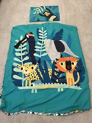 Safari Themed Cot Bed Duvet Cover And Pillow Case