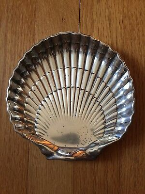 """Gorham Sterling Silver Footed Scalloped Shell Dish #42677 6"""""""