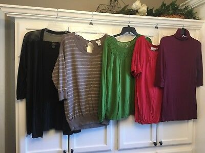 Maternity Lot Shirts/tops Size Medium Old Navy/ Pea In A Pod