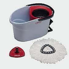 Vileda Cleaning Set Ultra Spin Mini MOP Bucket 6l Red and Handle