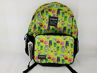 Minecraft 16in kids backpack with matching insulated lunch box. New without tags