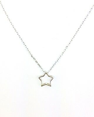 Sterling Silver Star Pendant Necklace On Sterling Silver Fine Chain