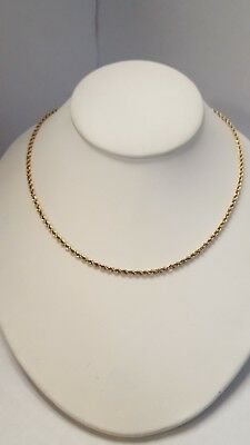 Well-Made Designer P 14KT Yellow Gold Solid Diamond Cut Rope Chain 2.50mm Wide