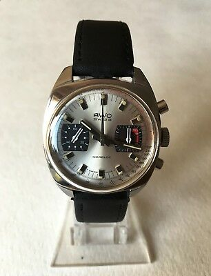 BWC Swiss Chronograph Valjoux 7733 Vintage all steel Edelstahl