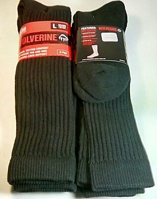 Wolverine Cotton Over-the-Calf Boot Sock, Large, Black, 4 pr $19.99 +FREE SHIP