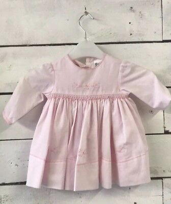 Sarah Louise Pale Pink Cotton Traditional Dress 6 Months