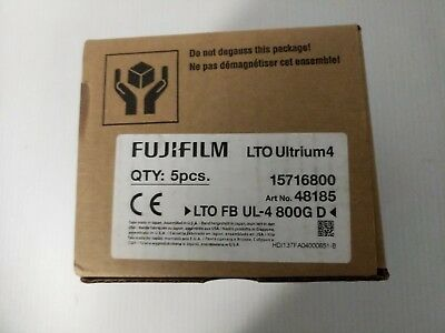 FUJIFILM QTY: 5pcs. LTO Ultrium4  Data Cartridge - New in Box