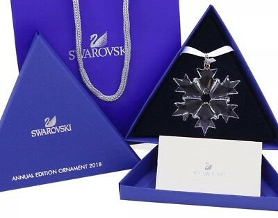 Swarovski Crystal Annual Edition 2018 Snowflake Christmas Ornament 5301575 NEW