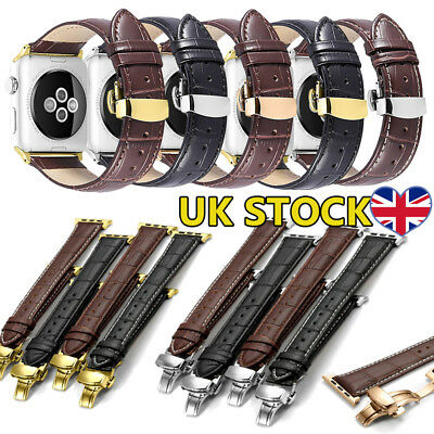 Genuine Leather Strap Bracelet Watch Band For Apple Watch iWatch 4/3/2/1 38/42mm