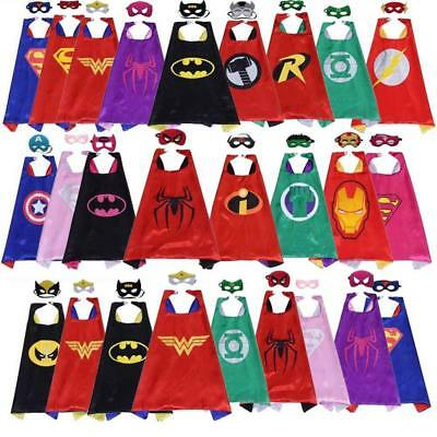 Superhero Capes with Masks Costumes for Kids Boys & Girls Party Favors Dress Up
