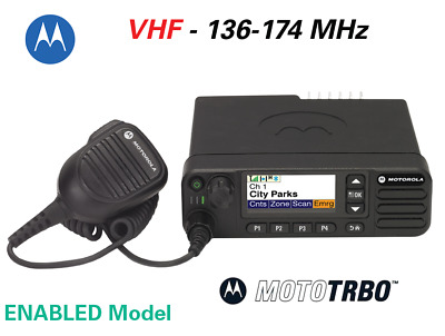 MOTOTRBO™ XPR™ 5550e DIGITAL TWO-WAY MOBILE RADIO - VHF 136-174 MHz