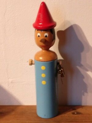 Mastro Geppetto Handmade Wooden Pinocchio  Money Box