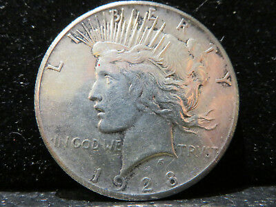 1928 P Silver Peace Dollar  KEY DATE! Obv cleaned