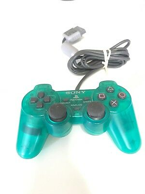 Sony Playstation 1 PS1 Controller Emerald Green Dualshock SCPH-1200 Tested