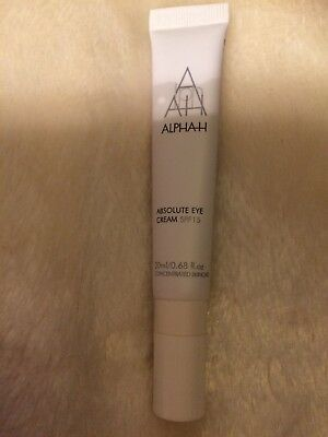 ALPHA H ABSOLUTE EYE CREAM SPF15 20ml RRP £46 New And Sealed