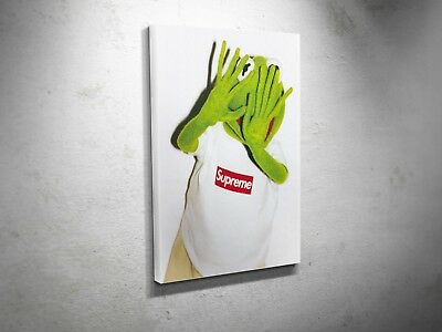 Supreme Kermit the Frog SK3 GRAIL Sexy Street Swag Art Canvas Print Poster Art