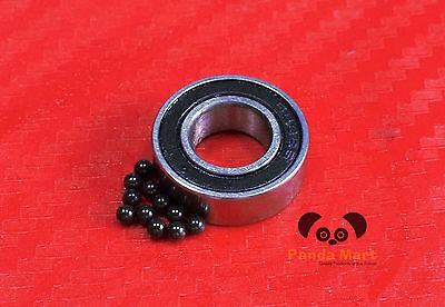 2pc 626-2RS (6x19x6 mm) Hybrid CERAMIC Ball Bearing Bearings 626RS 6 19 6 626