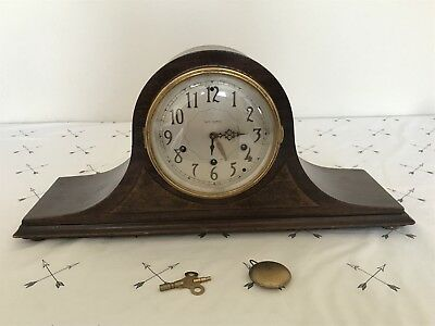 Antique Mantel Clock 124 SETH THOMAS, Pend. Orig. Key, Chime, Repair,Not working